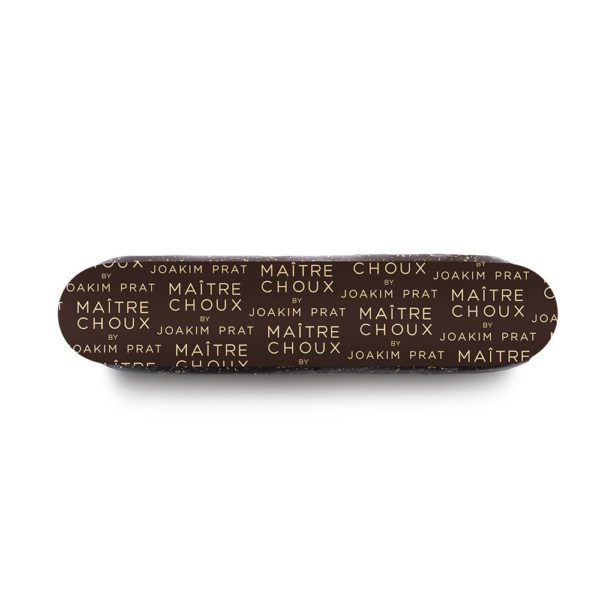 very dark chocolate eclair